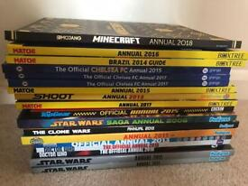 Job lot of annuals. 18 including football, dr who, Star Wars