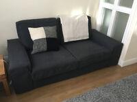 Big 2 seater dark grey KIVIK sofa from Ikea