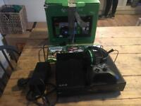 Xbox One 500GB with x3 games , headset and controller
