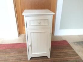 White small wooden cupboard