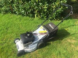 Masport self propelled alloy deck lawnmower Briggs engine mower is serviced VGC