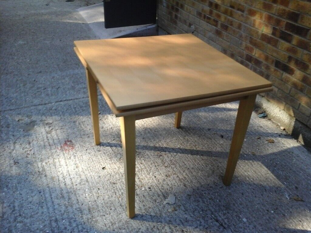 Ikea Light Wood Square Extending Dining Table No 2