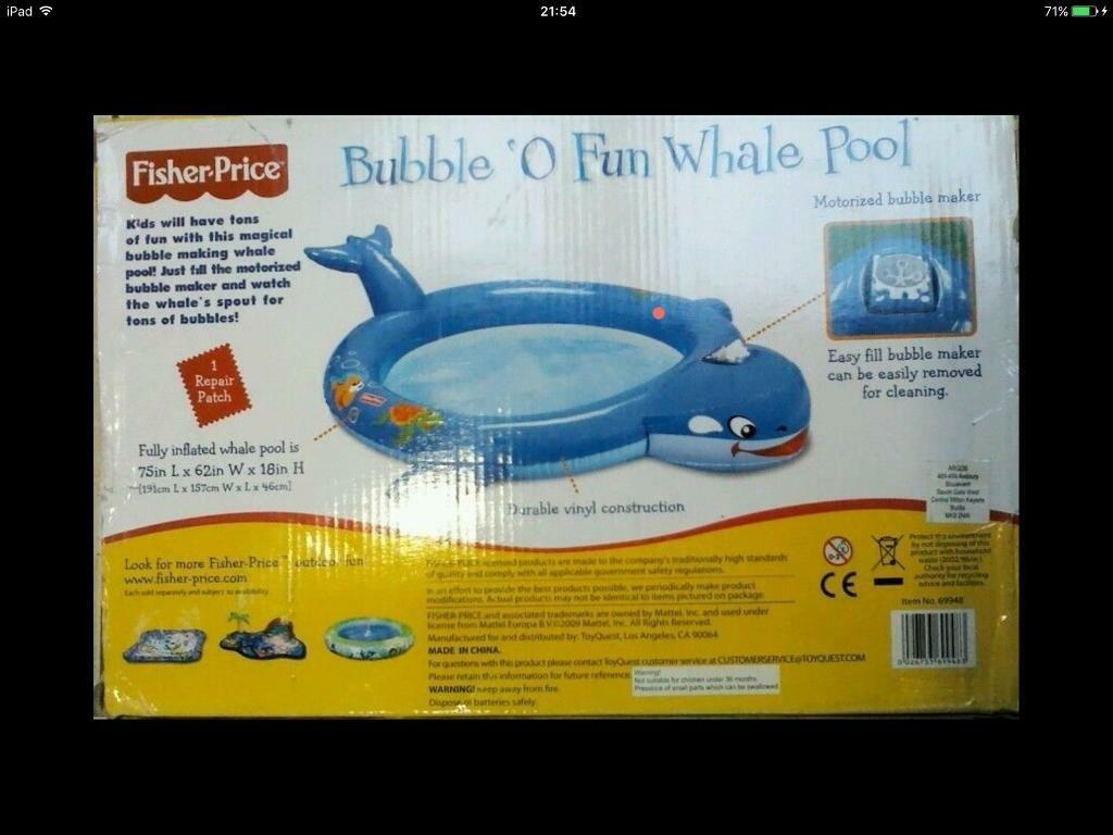 3e0e4c4efea Fisher price whale garden pool New | in Cramlington, Northumberland ...