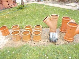 110mm underground drainage pipe fittings, collars etc