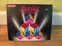 Vintage Rubik's Triamid Brain Teaser Puzzle 1990 Matchbox Games Pyramid Cube. Original Box.