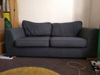 Charcoal Grey DFS 3 seater sofa