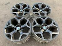 "20"" BMW X6 Alloys Original Genuine Staggered Wheels 10x20 11x20 6772249 6782916"