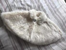 Monsoon Fur Shrug 0-12m
