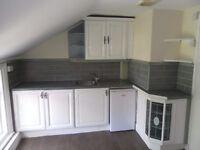1 bed top fl flat close to marina, Southport, PR9 - unfurn, fit kitchen, gch, new decor £290pcm
