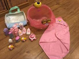 Baby born bath set