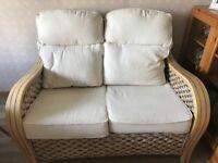Cane Sofas - set of two