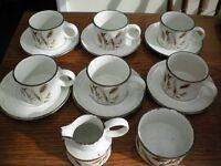 VINTAGE MIDWINTER WILD OATS TEA SET