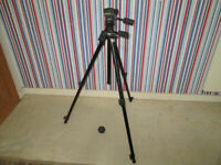 Manfrotto 055DB professional tripod with #229 3-way pan and tilt head