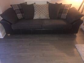 4 seater pillow back Reuben DFS Sofa & large foot stool
