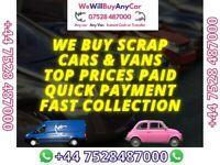 ✅ Sell my car today , cash for VEHICLES, SCRAP CARS WANTED ☎ vauxhall audi bmw fiat renault toyota