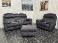 Stunning 3+1 seater sofa set with storage footstool
