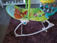 Baby nuby chair with vibration and adjustable seat