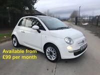 Fiat 500 (Corsa A1 A3 Fiesta Clio) £99 per month