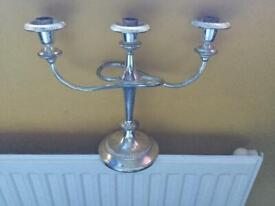 Silver plated twisted candelabra x7
