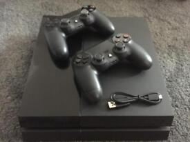 PS4 500gb with games and 2 x controllers
