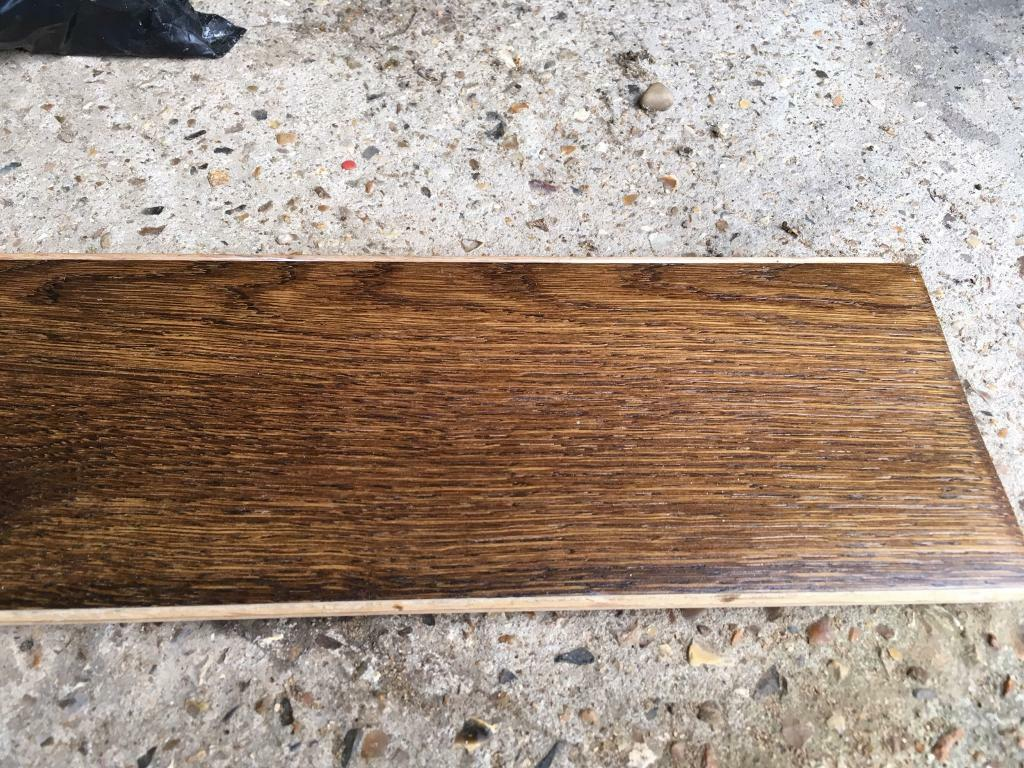 Solid oak flooring dark stain