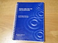 Social Care and The Law In Scotland by Siobhan Maclean & Mark Shiner - SVQ Book