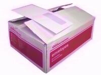 Self Seal Envelopes JOB LOT OF OFFICE STATIONARY ( 8 boxes )