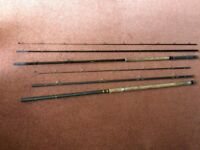 Two Course Fishing Rods. One New Haversack. One New Hand Held Fishing Box. One Used Fishing Rod Bag