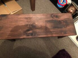 Solid pine bench table