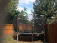 12ft plum magnitude trampoline and enclosure