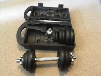 York 20kg cast iron dumbbell set