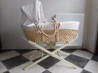 £10 Moses basket with stand