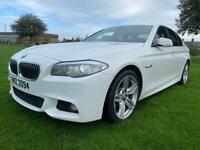 2013 BMW 520D AUTO-TIP 👀M SPORT👀ICE WHITE✅TOP SPEC!✅FSH✅NAV✅LEATHER!✅MINT!Mercedes,vw,bmw,audi