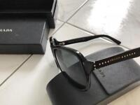 Genuine men's prada sunglasses black stud