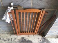 Wooden Baby gate dog door orvis