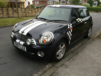 2007 MINI COOPER BLACK 1 OWNER FROM NEW, FULL SERVICE HISTORY VERY HIGH SPEC, LEATHER PAN ROOF