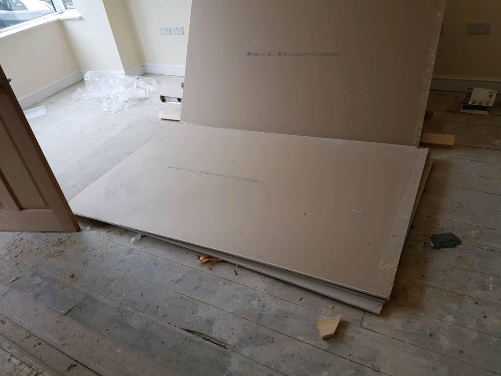 Plasterboard, 4 sheets, 8'x4' 12mm