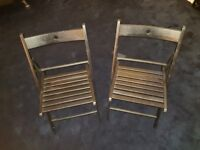Two Black IKEA TERJE Chairs