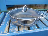 Viners non stick saute roaster 30cm with glass lid