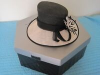 Black and cream Jacques Vert hat