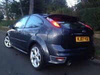 2007 Ford Focus 2.5 ST-3 3dr 225 Bhp REACARO LEATHER HEATED SEATS XENONS ST3 PARKING SENSORS