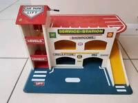 Childs wooden toy garage