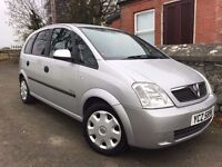 2004 Vauxhall Meriva Enjoy 1.8 16v , trade in considered (no swaps) credit & debit cards accepted