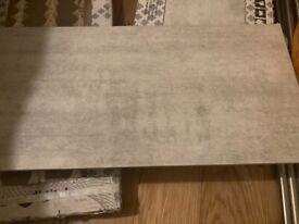 Venue Light Grey Tile - 19 tiles - 600mm x 300mm - New in Box