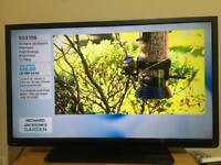 "40"" TOSHIBA LED TV SLIMLINE USB Full HD 1080p Freeview CAN DELIVER"
