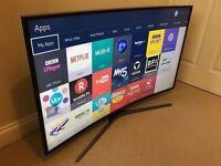 **CURVED** 48in Samsung 4k uhd SMART TV -1200PQI- wifi- voice ctrl- Freeview/SAT HD -warranty