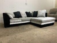 Silver corner sofa, couch, suite, furniture 🚚🚛