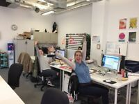 Shared workspace with AWESOME design agency in East London