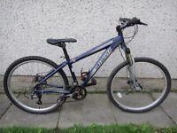 Specialized Hardrock sport bike, 26 inch wheels, 24 gears, 16 inch aluminium frame and disc brakes