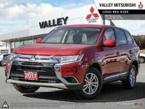 2017 Mitsubishi Outlander ES-AWD, BLUETOOTH, HEATED SEATS